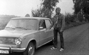 Peter and the car used in the escape