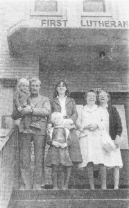 Peter and his family with two Czechoslovakian members of First Lutheran Church, their US sponsor